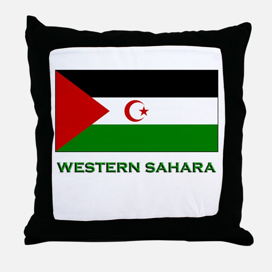 Western Sahara Flag Stuff Throw Pillow