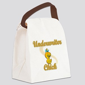 Underwriter Chick #2 Canvas Lunch Bag