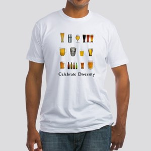 Celebrate Diversity Beer Fitted T-Shirt