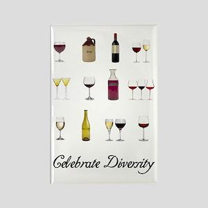 Celebrate Diversity Wine Rectangle Magnet