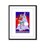 Anime Sword of Fire Solavenger Framed Panel Print
