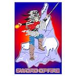 Anime Sword of Fire Solavenger Large Poster