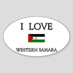 I Love Western Sahara Oval Sticker