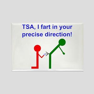 Fart on TSA Rectangle Magnet
