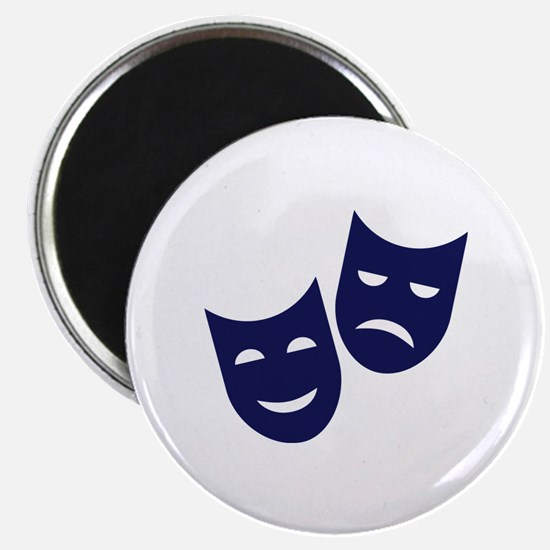 """Theater masks 2.25"""" Magnet (10 pack)"""