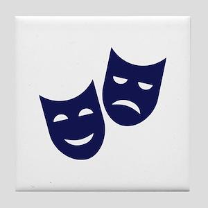 Theater masks Tile Coaster