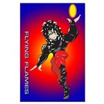 Anime Flying Flames Solavenger Large Poster