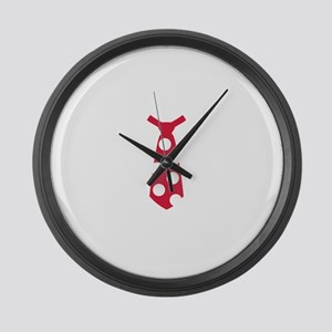 Red tie Large Wall Clock