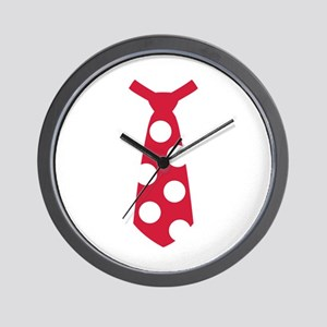 Red tie Wall Clock