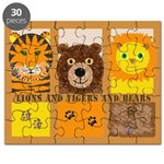 Lions Tigers and Bears Puzzle