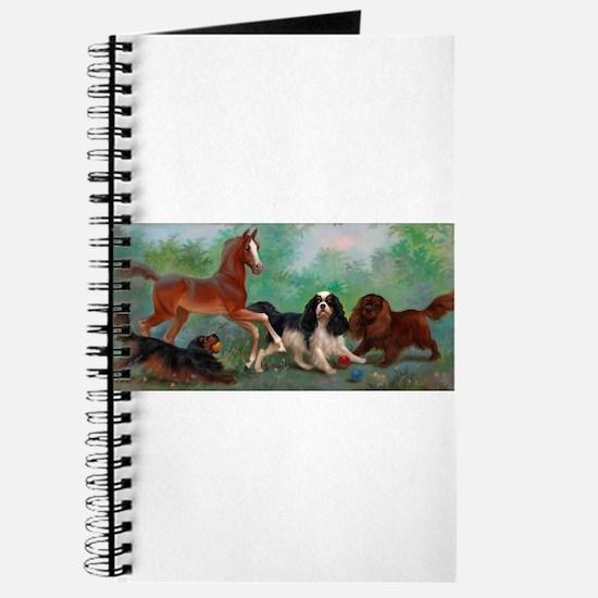 Cute Cavalier king charles spaniel art Journal