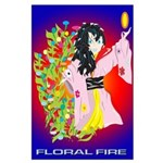 Anime Floral Fire Solavengers Large Poster