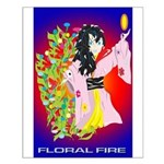 Anime Floral Fire Solavengers Small Poster