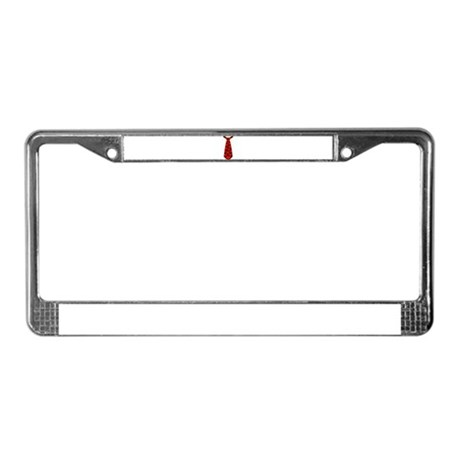 Tie red hearts License Plate Frame