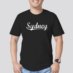 Sydney, Vintage Men's Fitted T-Shirt (dark)