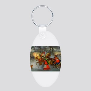 Let's Go For a Ride Aluminum Oval Keychain