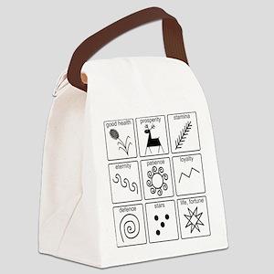 Pysanka Symbols Canvas Lunch Bag