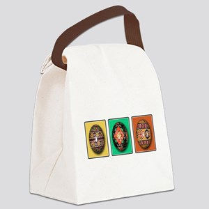 Eggs in a Row Canvas Lunch Bag