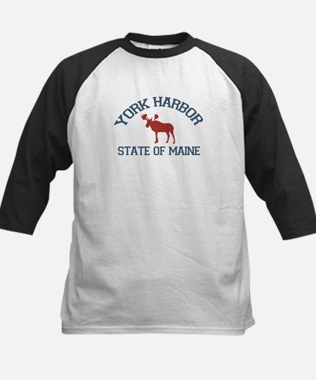 York Harbor ME - Moose Design. Kids Baseball Jerse