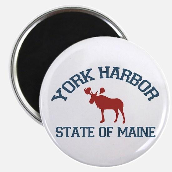 York Harbor ME - Moose Design. Magnet