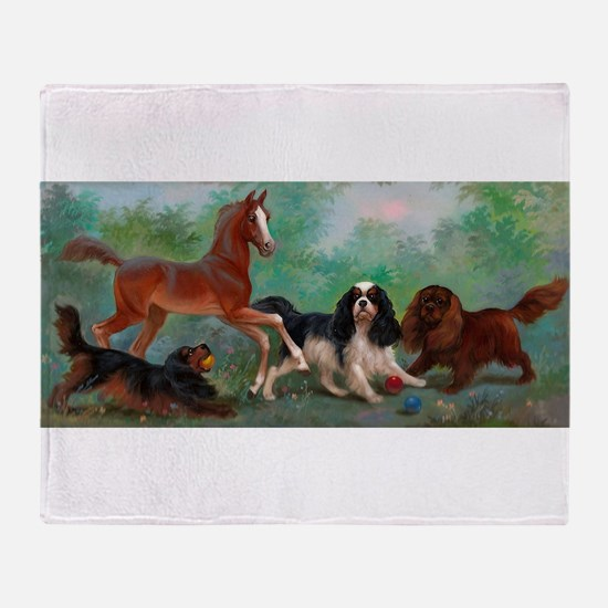 Cavalier King Charles Spaniels with Foal Stadium