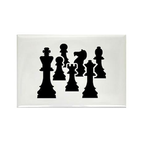 Chess Chessmen Rectangle Magnet