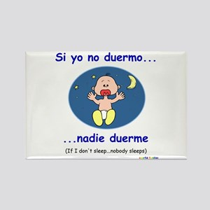If I Don't Sleep... (Spanish) Rectangle Magnet