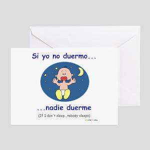 If I Don't Sleep... (Spanish) Greeting Cards