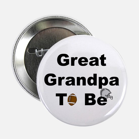 Football Great Grandpa To Be Button