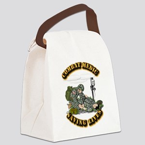 Combat Medic - Saving Lives Canvas Lunch Bag