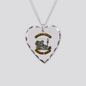 Combat Medic - Saving Lives Necklace Heart Charm