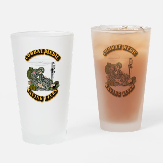 Combat Medic - Saving Lives Drinking Glass