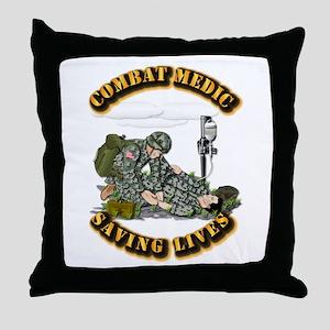 Combat Medic - Saving Lives Throw Pillow