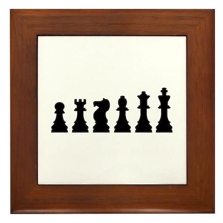 Evolution chess Framed Tile
