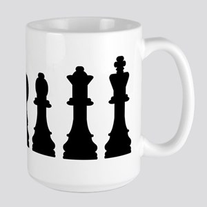 Evolution chess Large Mug