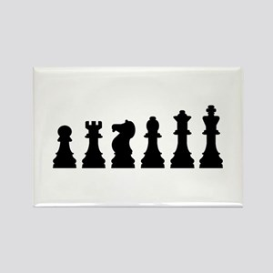 Evolution chess Rectangle Magnet