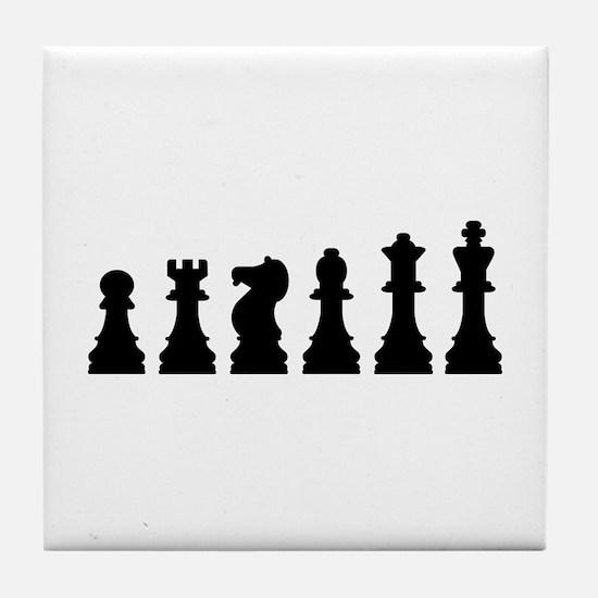 Evolution chess Tile Coaster