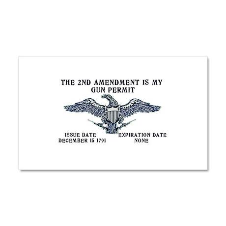 2nd Amendment Gun Permit Car Magnet 20 x 12