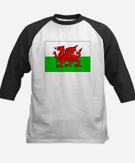 Wales Flag Picture Kids Baseball Jersey