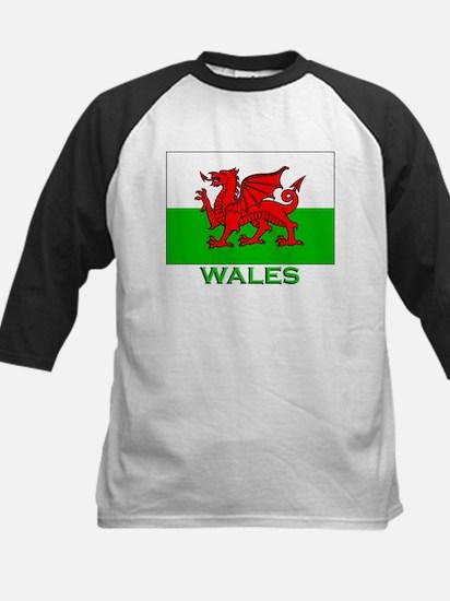 Wales Flag Stuff Kids Baseball Jersey