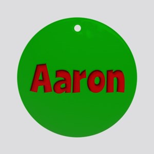 Aaron Green and Red Ornament (Round)