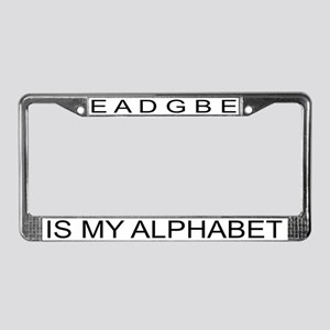 EADGBE IS MY ALPHABET License Plate Frame