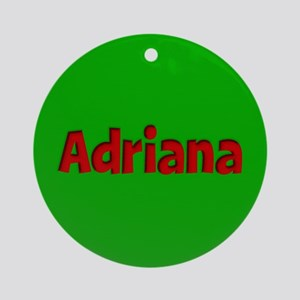 Adriana Green and Red Ornament (Round)