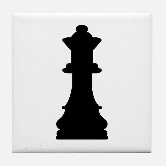 Chess queen Tile Coaster