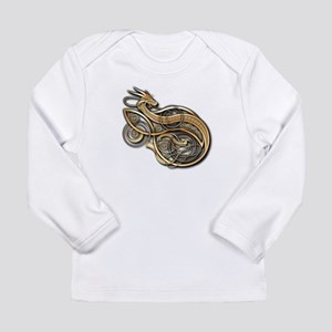 Gold Norse Dragon Long Sleeve Infant T-Shirt