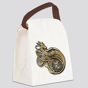 Gold Norse Dragon Canvas Lunch Bag