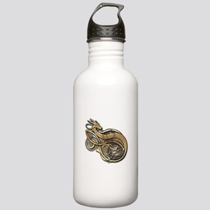 Gold Norse Dragon Stainless Water Bottle 1.0L