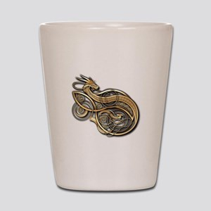 Gold Norse Dragon Shot Glass