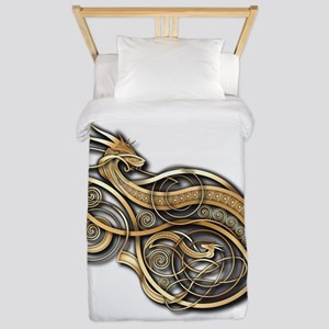 Gold Norse Dragon Twin Duvet
