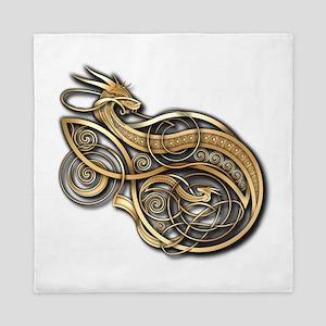 Gold Norse Dragon Queen Duvet
